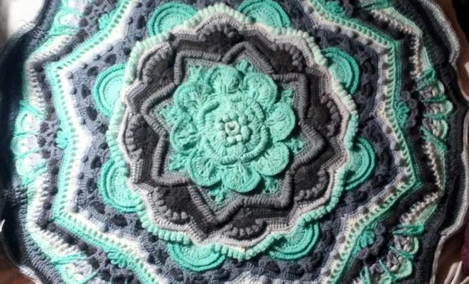Mandala Progress By Jaymie Crochet Au Lait Magnificent Mandala Yarn Patterns
